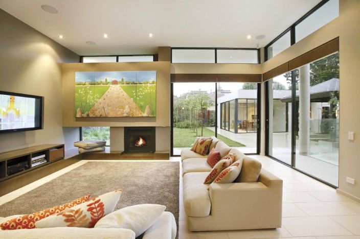 Living room, open plan, indoor-outdoor lifestyle,  Constructed by Classic Projects