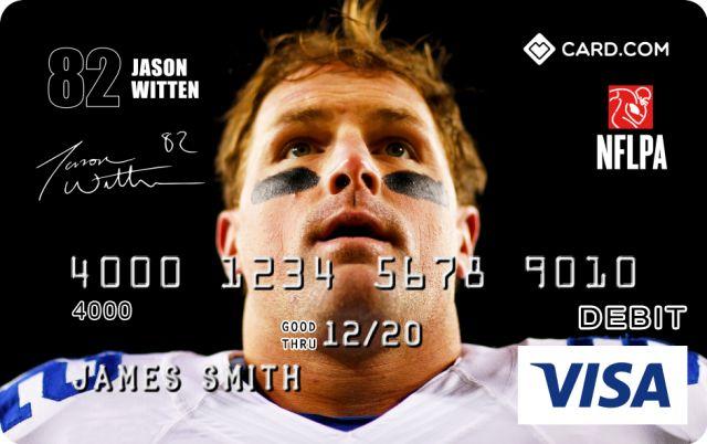 Jason Witten Design CARD.com Prepaid Visa® Card | CARD.com