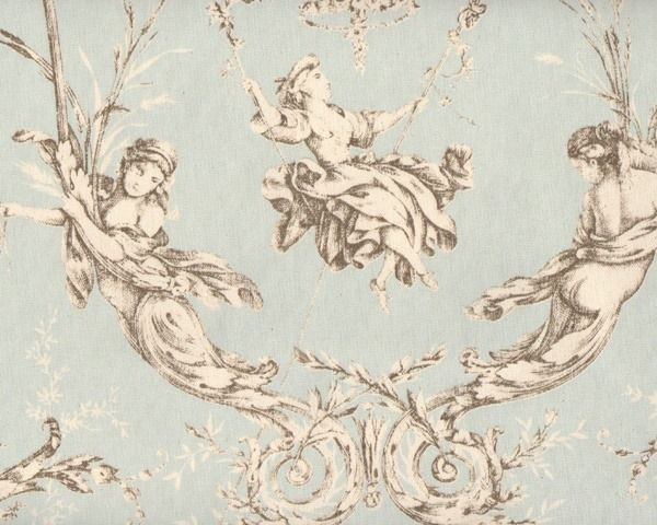 Dekostoff+Toile+de+Jouy+MONTESPAN,+barocke+Szenerie+,+extrabreit,+helles+mintgrün