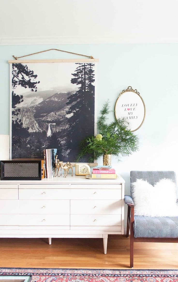 Forget the Frame: Alternative Ideas for Statement Walls - Wall Art / Home Accessories over dresser