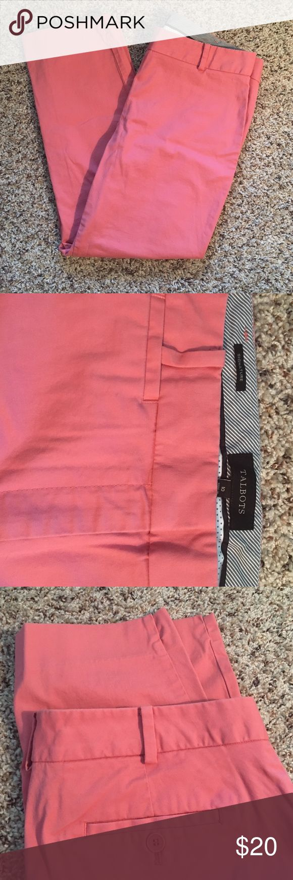 "Talbots Signature Salmon Pant EUC, size 10. 17"" waist, 25.5"" inseam. Salmon color. Talbots Pants Ankle & Cropped"