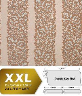 Barok behang neo behang EDEM 910-33 hoogwaardig vlies behang koraal bruin beige zilver   10,65 m2