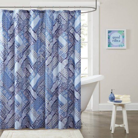 Home Essence Apartment Lainey Printed Shower Curtain, Blue