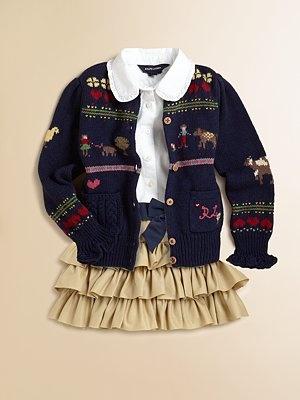 Ralph Lauren - Toddler's & Little Girl's Sampler Cardigan - Saks.com