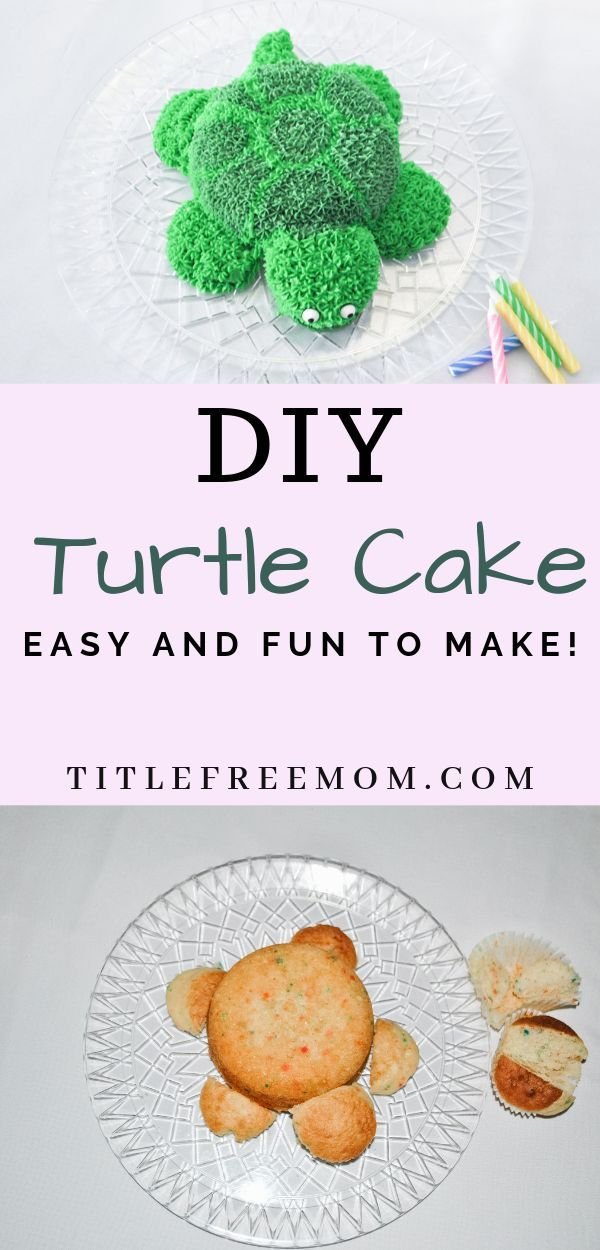 How to make a simple turtle cake – #a #simple #power #man #schildkrot …  – Birthday Cake Flower Ideen