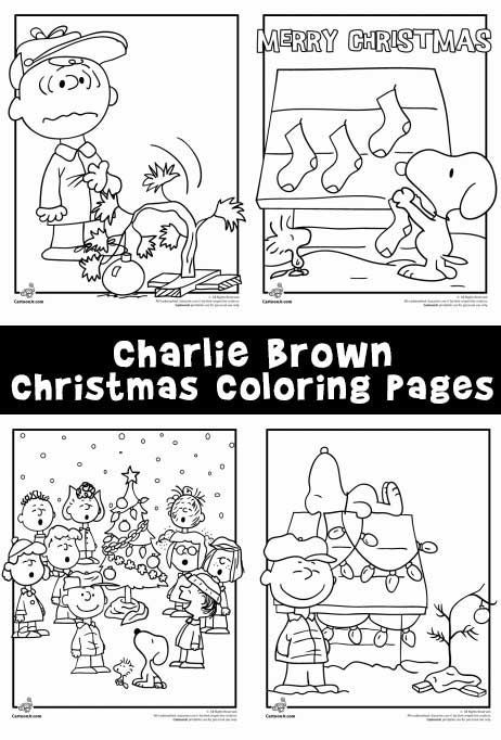 charlie brown christmas coloring pages - photo#15