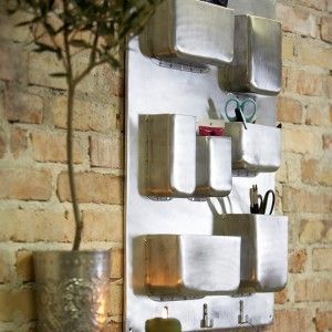 Brilliant industrial style metal wall storage unit, by House Doctor