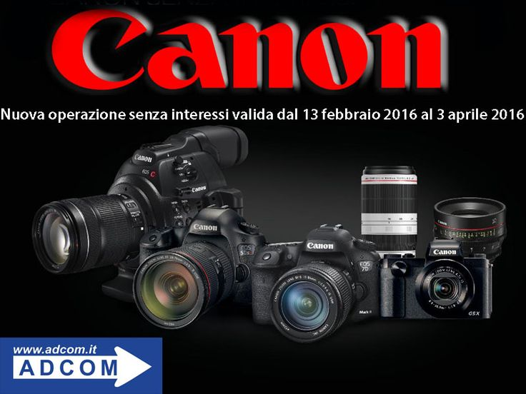 """Passa da ADCOM!  Vai sul sito, ricerca il prodotto Canon che fa per te e verifica che ci sia la scritta:  """"PROMOZIONE TASSO ZERO 12/24 MESI per gli utenti finali - Valida fino al 03-04-2016!"""" Info: http://www.adcom.it/news.php?lang=it&idliv1=5&idn=234"""