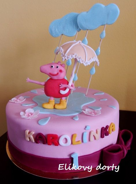Peppa Pig cake (inspired by internet)