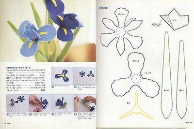 ARTE COM QUIANE - Paps,Moldes,E.V.A,Feltro,Costuras,Fofuchas 3D: Molde Orquídea de feltro