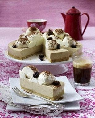 Eiskaffee-Torte Rezept  Iced coffee cake recipe  (recipe in euro measurements)