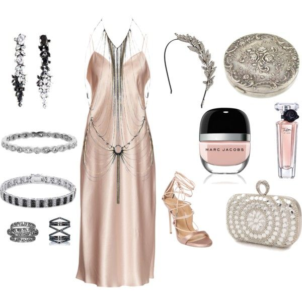 How to...1920s party by vicky-angelidou-pappas on Polyvore featuring Yves Saint Laurent, Agent Provocateur, Dsquared2, Mascara, Finesque, Iosselliani, Cathy Waterman, Eva Fehren, Jennifer Behr and Lancôme
