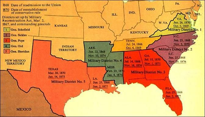 the military reconstruction act in the american history The reconstruction acts, or military  the actual title of the initial legislation was an act to provide for the  reconstruction amendments first military.