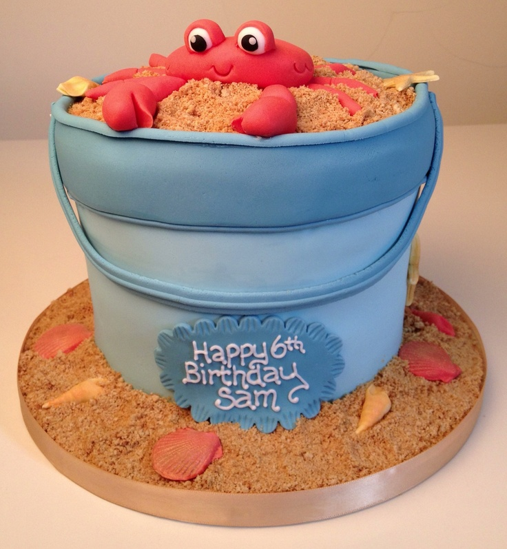 Crab in a bucket cake by flossie pops cakery www