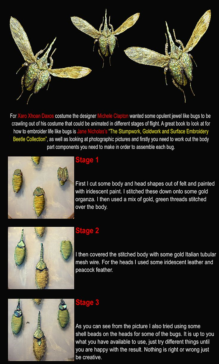 Game Of Thrones Embroidery Techniques By Textile Artist Michelle Carragher   Xaro's Beetles Part 1