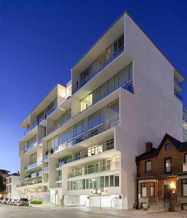 Seventy5, 75 Portland Street, Toronto, Ontario, Canada. Freed Developments. 216 Units, 11 storeys