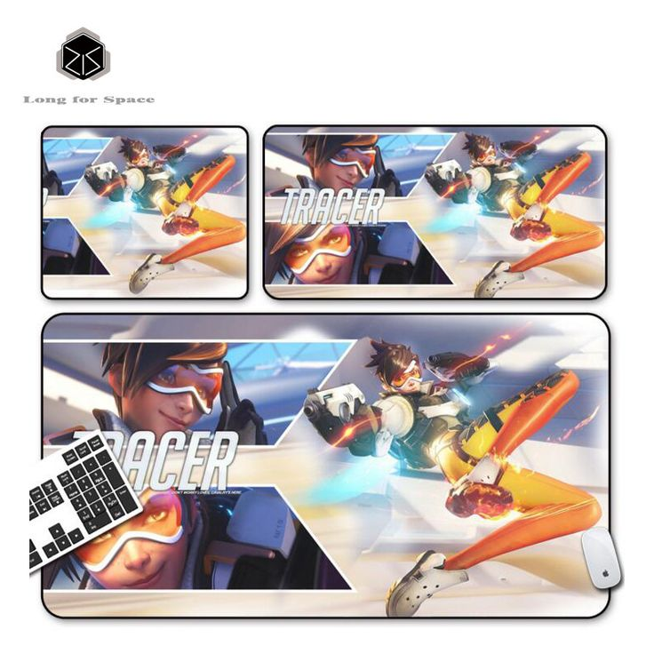 SJLUHS Overwatch TRACER large Mouse Pad Gaming Mouse Pad High Quality Expansion Mousepad Profession For Overwatch Free Shipping