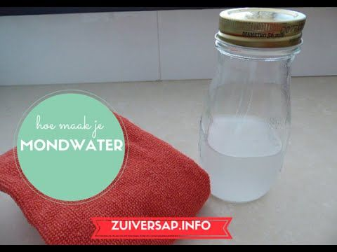 Zuiversap | Mondwater | Recept | Vegan - YouTube