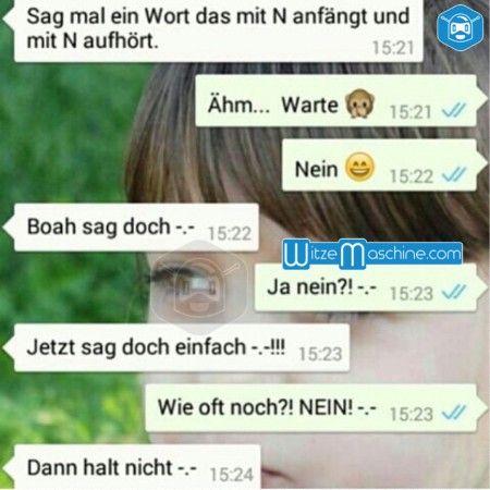 """Lustige WhatsApp Bilder und Chat Fails 180 - Wort mit """"N"""""""