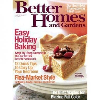 Better Homes & Gardens Magazine (1-year auto-renewal).$5