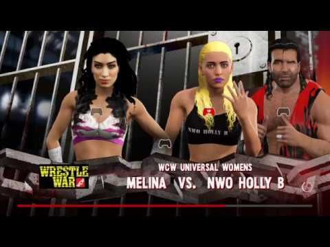 WWE2K17-DIVAS UNIVERSE-WRESTLE WAR-UNIVERSAL TITLE MATCH-MELINA V NWO HO...