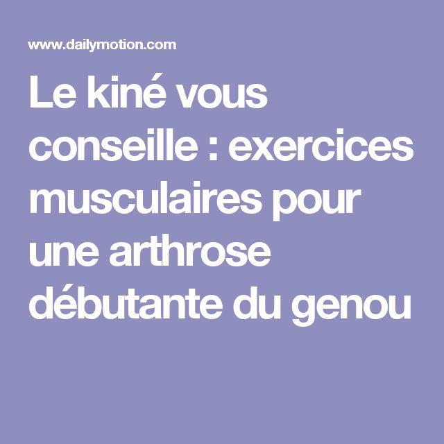 Le kiné vous conseille : exercices musculaires pour une arthrose débutante du…