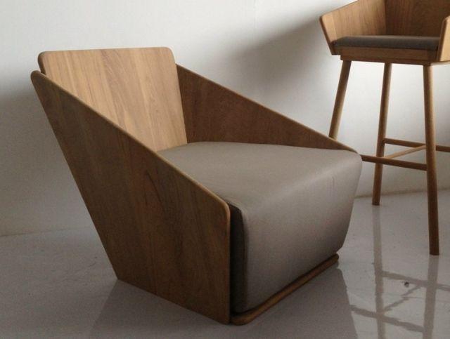 Moderne Wohnzimmermöbel Designer Sessel Holz ORIGAMI Deesawat Industries
