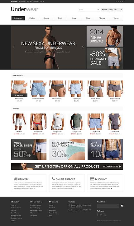 Design kills time... Get Template Espresso! That's  Magento #template // Regular price: $180 // Unique price: $2500 // Sources available: .PSD, .XML, .PHTML, .CSS #Magento #Responsive #Store #Shop #Fashion #Mens #Underwear
