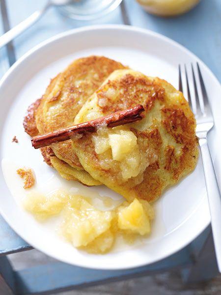 So knusprig, so lecker: Kartoffelpuffer mit Apfelkompott <3
