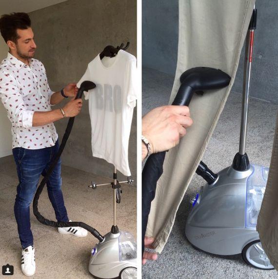Rafał Maślak with SteaMaster! #steamaster #steamer #silver #ironing #iron #polish #model #blogger #celebrities #rafalmaslak