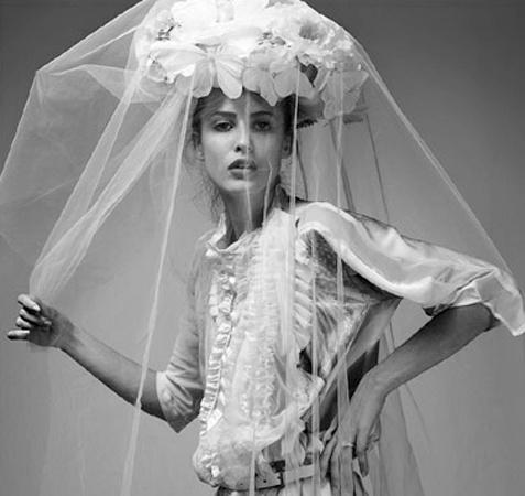 From Kelima K's imaginative modern vintage inspired bridal veil collection.