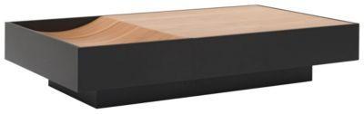 """Der Couchtisch """"Ocean"""" von NATUZZI besticht durch exquisites Design und fortschrittliche Funktion. So bietet das Dunkelbraun des Korpus einen eleganten Kontrast zur rustikalen Tischplatte aus furniertem Walnussholz. Dabei hat der ca. 140 cm breite Tisch eine Schublade mit einem Komfort- und Vollauszug. Dank des Soft-Close-Systems schließt die Schublade zudem sanft. Verleihen Sie Ihrem Wohnzimmermit diesem Couchtischein stilvolles Ambiente!"""