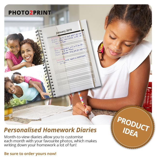 Keep your days organised with this 2018 Diary. A great way to make sure you have all your homework written down. #schooliscool #writeitalldown #nicetohave