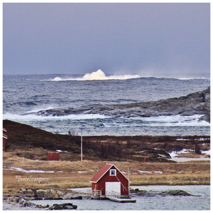 The hurricane February 2015 Sommarøy, Hillesøy, Tromsø, northernnorway, Northern Norway