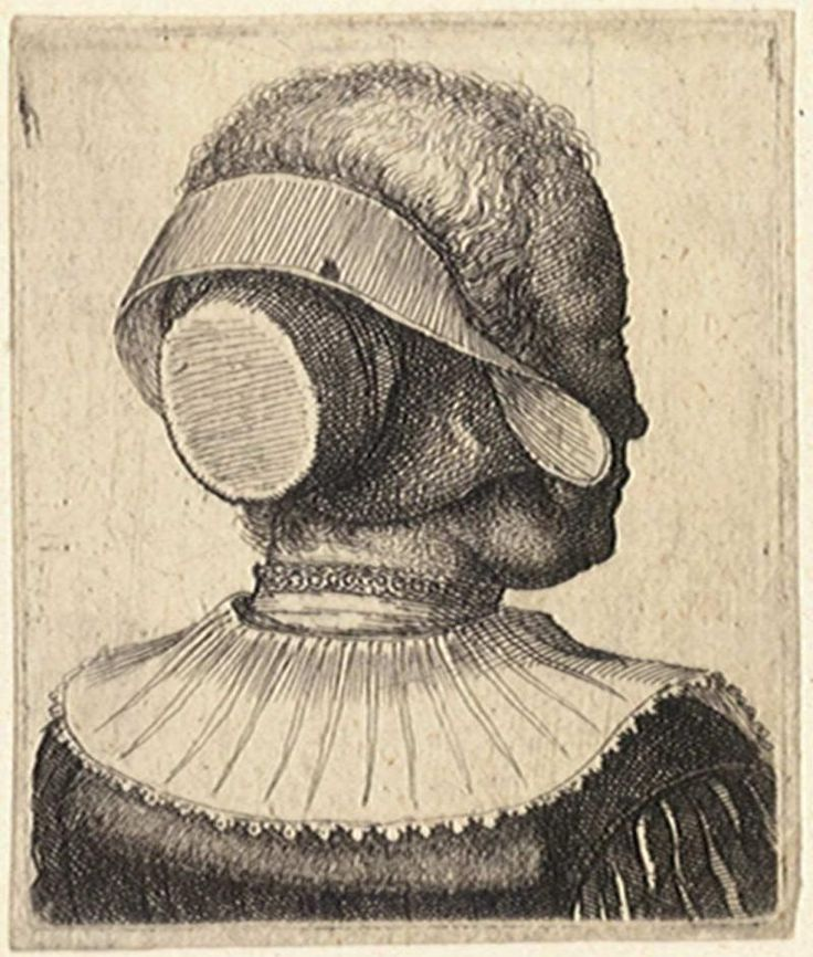 "Wenceslas Hollar, ""Woman's head seen from behind"""