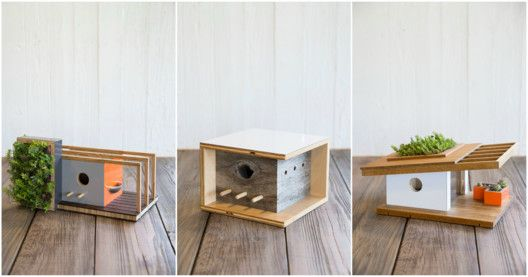 These Modernist Birdhouses are Inspired by Famous Architects