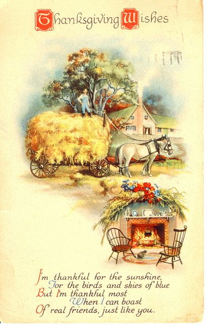 Vintage Thanksgiving Postcard: