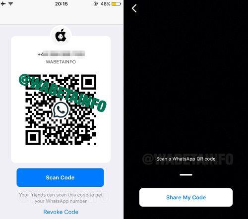 WhatsApp permitirá compartir contactos mediante código QR