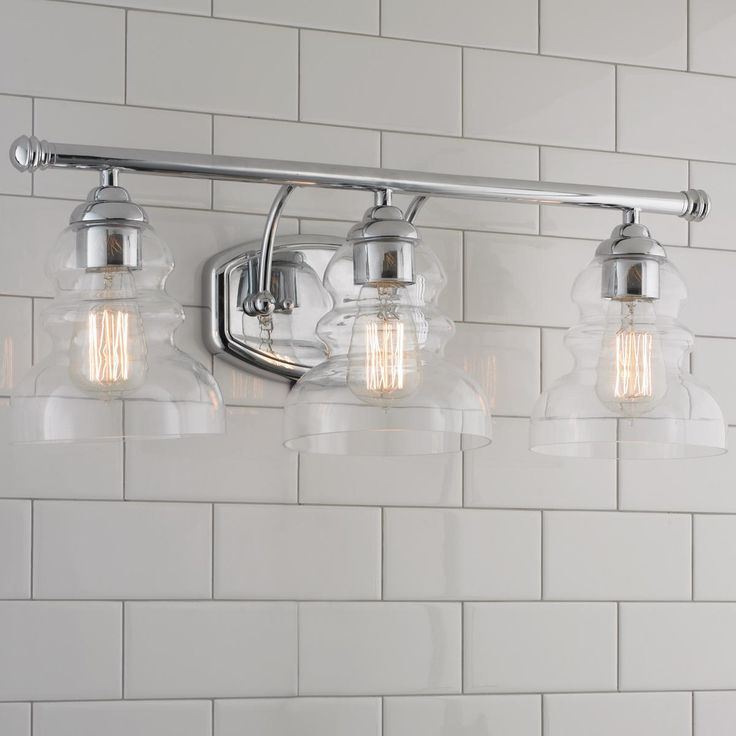Modern Ridged Shade Bath Light - 3 Light  sc 1 st  Pinterest & 18 best Retro style bath lights: Schoolhouse Restoration ... azcodes.com