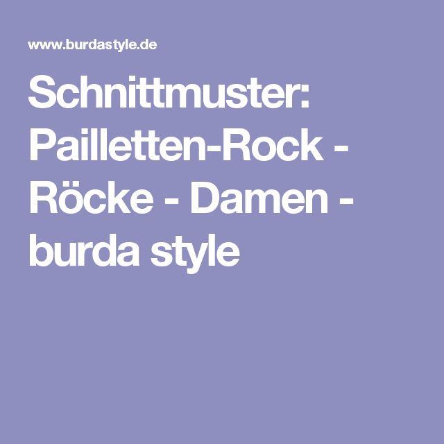 Schnittmuster: Pailletten-Rock - Röcke - Damen - burda style
