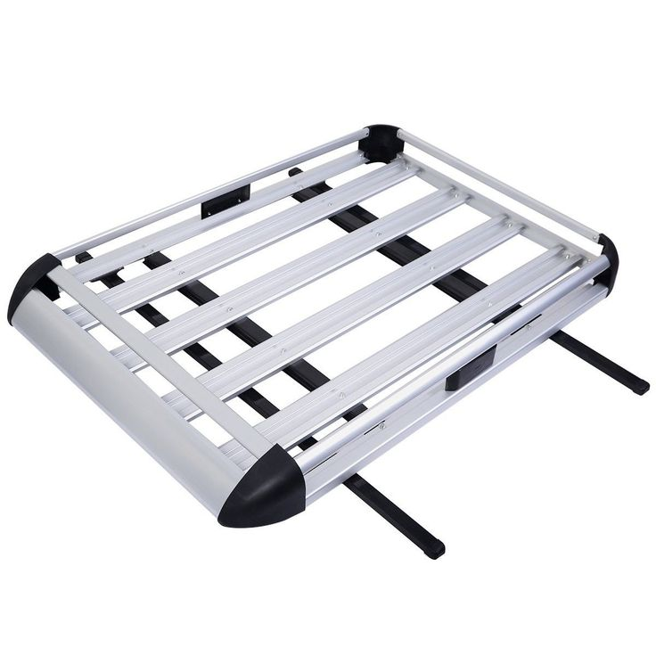 "50""x38"" Aluminum Car Roof Cargo Carrier Luggage Basket Rack Top w/Crossbars New"
