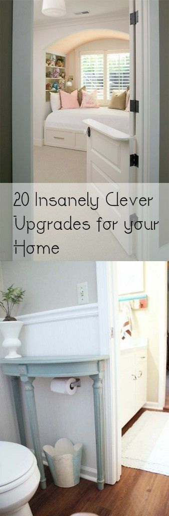 20 Insanely Clever Upgrades for your Home. These are fantastic Home Decor Ideas!