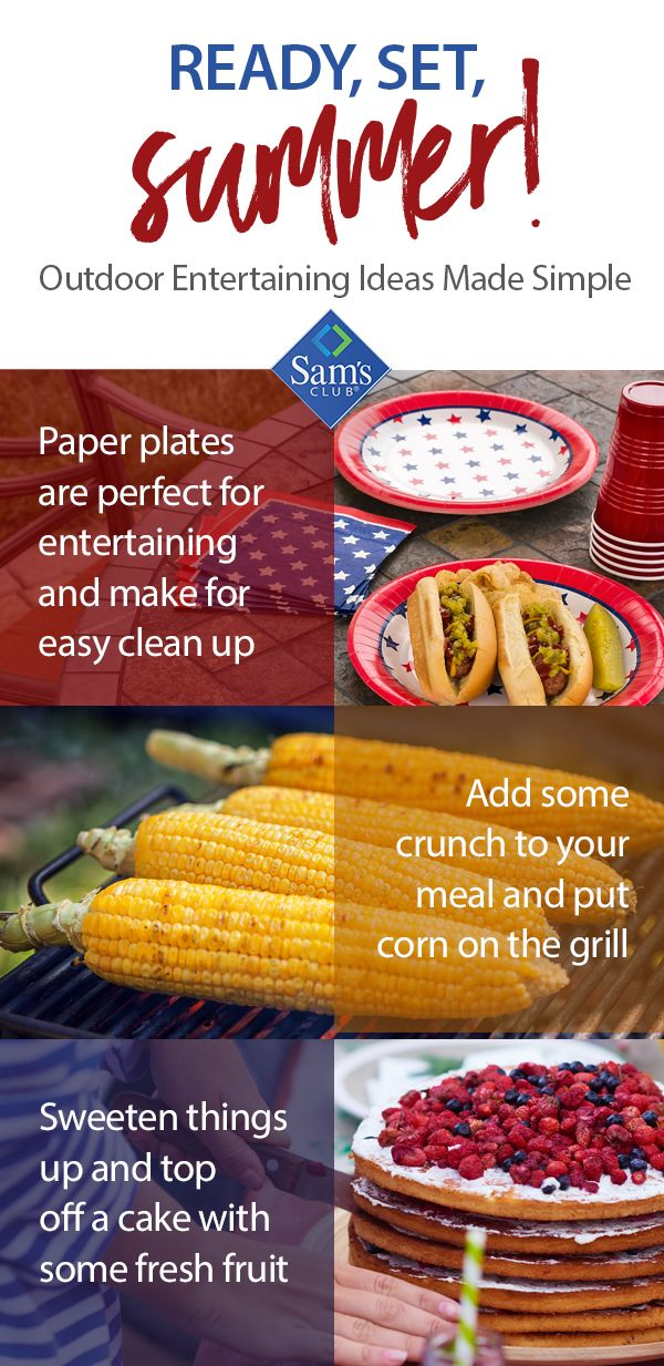 This summer, make unforgettable memories and embrace the rising temperatures by entertaining outdoors! Whether planned or last minute, count on Sam's Club for all your party needs.