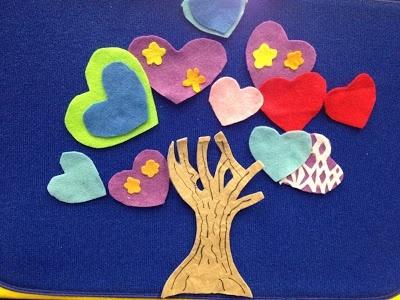 Heart tree felt story