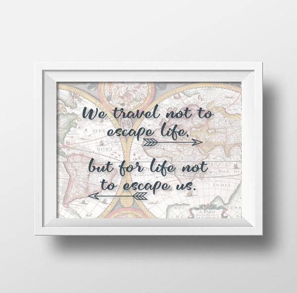 Travel Quote Poster Travel Quote Printable Travel Art Print Etsy In 2020 Travel Wall Art Travel Art Print Travel Wall Decor