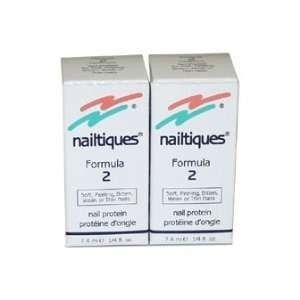 Nailtiques Nail Protein Formula 2 - Treatment for Soft, Peeling, Bitten, Weak or Thin Nails Nailtiques Nail Protein formulas were created to treat different nail conditions.  Benefits: Nails that are soft, peeling, split or just will not grow will see marked improvement when treated with Formula 2.  Application: Apply daily. As nails improve, decrease application. Formula 2 may be worn alone or with color polish.