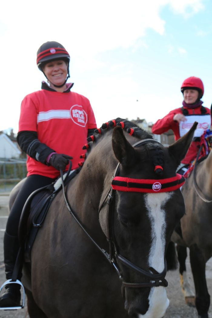 The one with all the horses and red pants!  @Sport Relief #teamhonkrelay