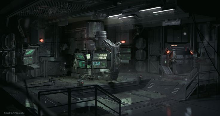 Security Room 02 by Mike Garn | Sci-Fi | 2D | CGSociety