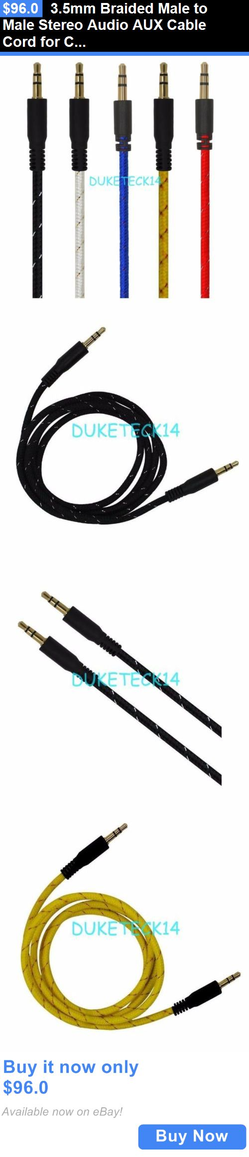Cables and Adapters: 3.5Mm Braided Male To Male Stereo Audio Aux Cable Cord For Car Iphone Wholesale BUY IT NOW ONLY: $96.0