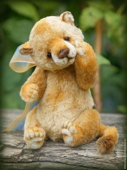 Лёвчик - мишки тедди,авторские мишки Тедди,teddy bear,мини мишки,миниатюра